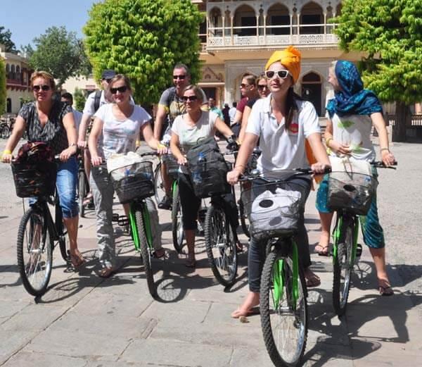 Traveler enjoying Cycling Trip