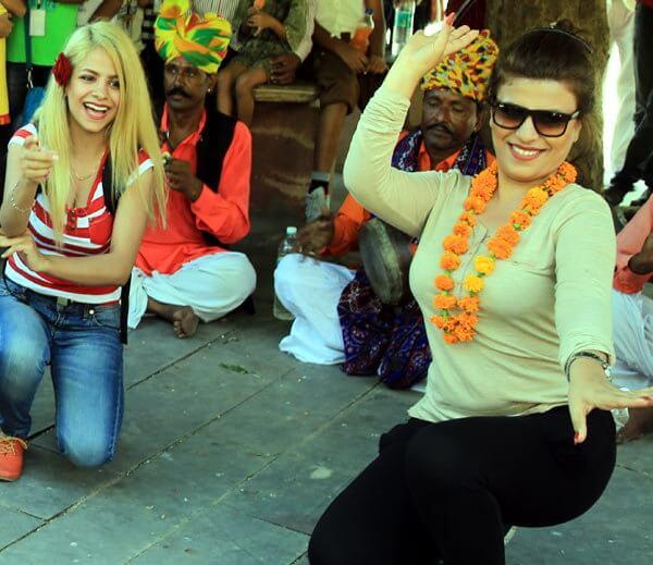 Traveler Dancing on Rajasthani Music