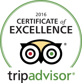 Excellent Certificate by Tripadvisor