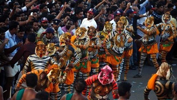 Pulikali Tiger Dance