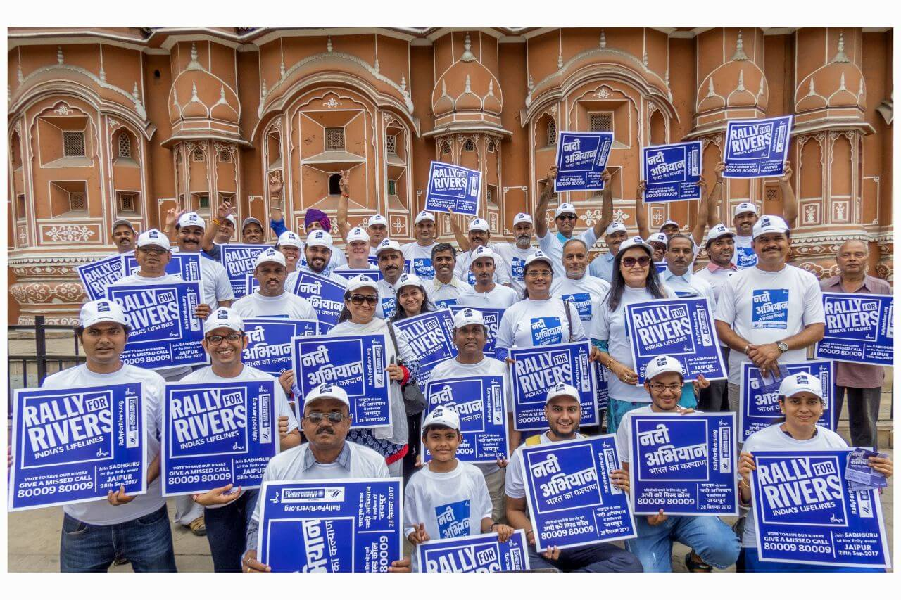 Rally for Rivers, Hawamahal, Jaipur